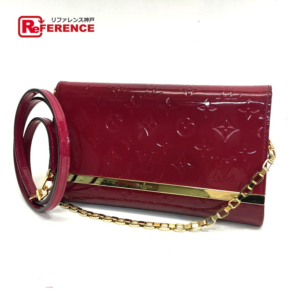 c2f8097e2bb9 BRANDSHOP REFERENCE  AUTHENTIC LOUIS VUITTON Monogram Vernis ChainShoulder  Bag Hand Bag Clutch Ana 2way bag Patent Leather M90092