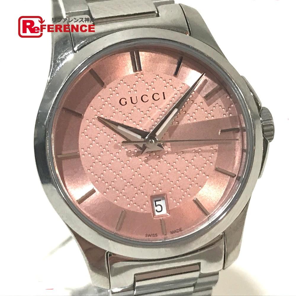 GUCCI グッチ 126.5 レディース腕時計 Gタイムレス 腕時計 SS シルバー レディース 新品同様【中古】