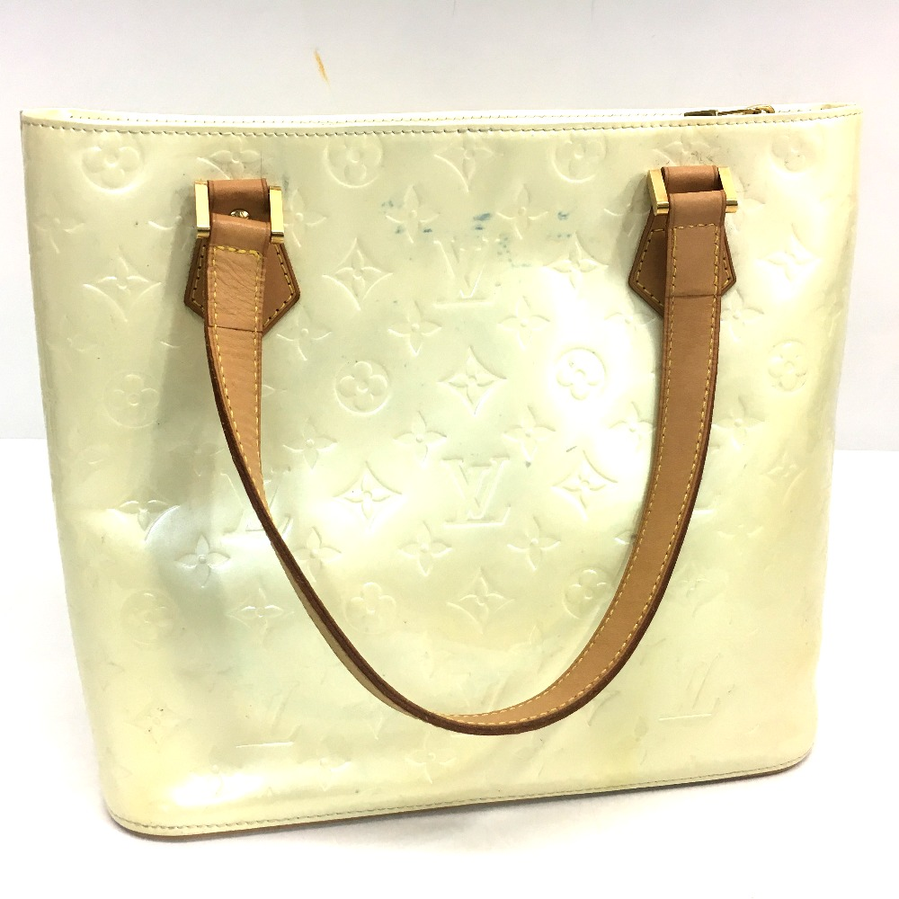 AUTHENTIC LOUIS VUITTON Monogram Vernis Houston Tote Bag Hand Bag Patent  Leather M91342 507f62424bcee
