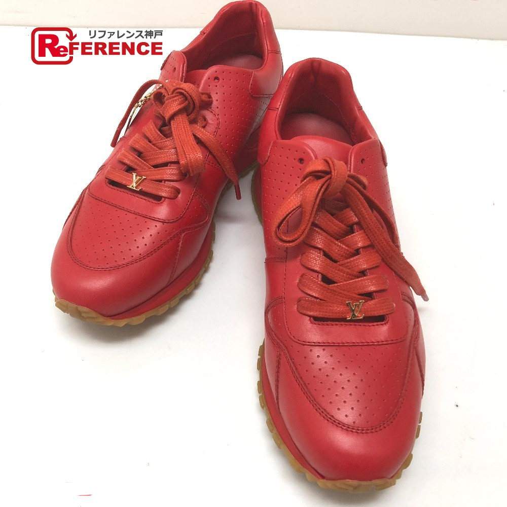 c3b4f010c01 AUTHENTIC LOUIS VUITTON Louis Vuitton x Supreme Runaway Men's shoes shoes  17 AW Louis Vuitton / Supreme RUN AWAY SNEAKER sneakers Red Leather 1A3EPP
