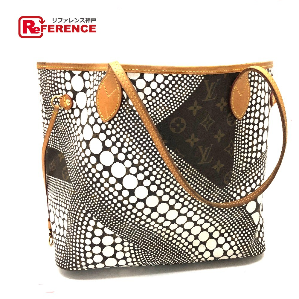 9e6c3d8a54f0 BRANDSHOP REFERENCE  AUTHENTIC LOUIS VUITTON Yayoi-KusamaCollection Yayoi  Kusama Neverfull MM Monogram - Wave Tote Bag Shoulder Bag Brown M40684