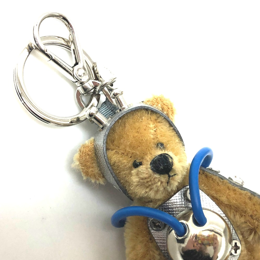 aab2b9719e11 BRANDSHOP REFERENCE  AUTHENTIC PRADA Bear bear Key ring Bag Charm ...