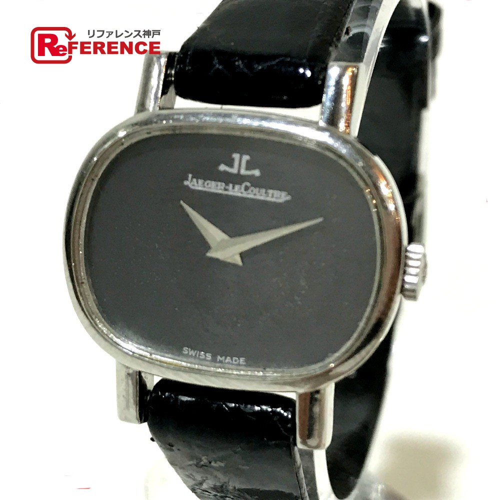 JAEGER-LECOULTRE ジャガー・ルクルト レディース腕時計 アンティークウォッチ 腕時計 SS×革ベルト ブラック レディース【中古】