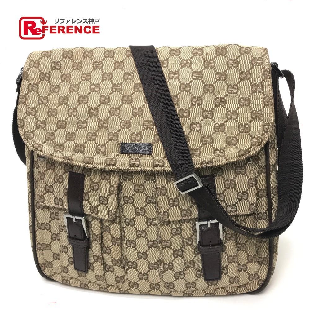 49bb2f15bc GUCCI Gucci 114269 messenger bag men gap Dis shoulder bag GG canvas x  leather   beige Lady s