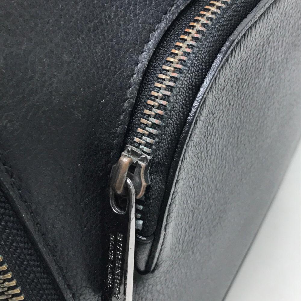 9915c2318a03 BURBERRY BLACK LABEL Burberry black label round fastener clutch bag leather    black men
