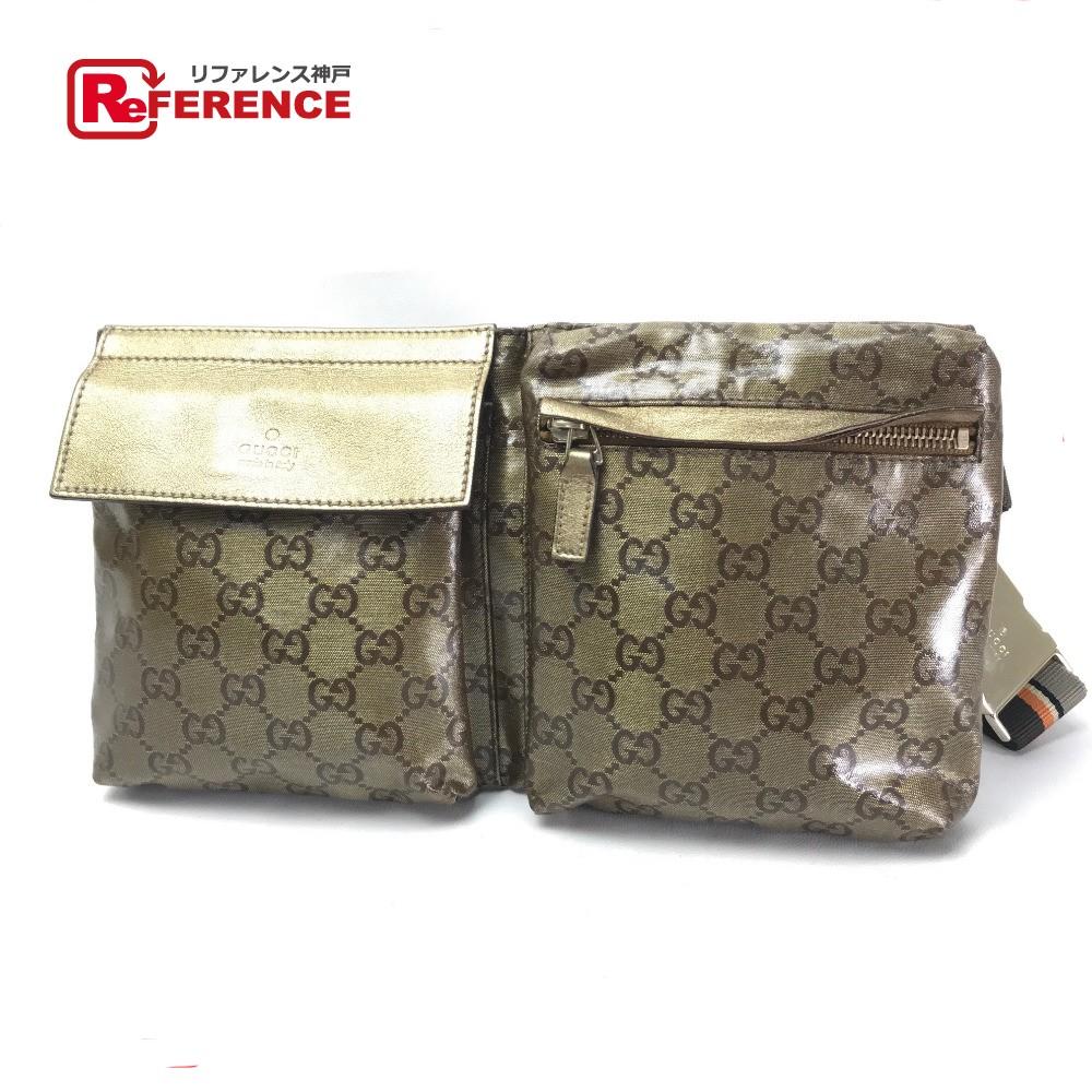 8be4509924bd GUCCI Gucci 28566 bum-bag belt bag hips bag GG crystal men gap Dis body ...