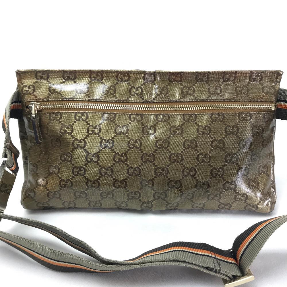 80a1c666147e ... GUCCI Gucci 28566 bum-bag belt bag hips bag GG crystal men gap Dis body  ...