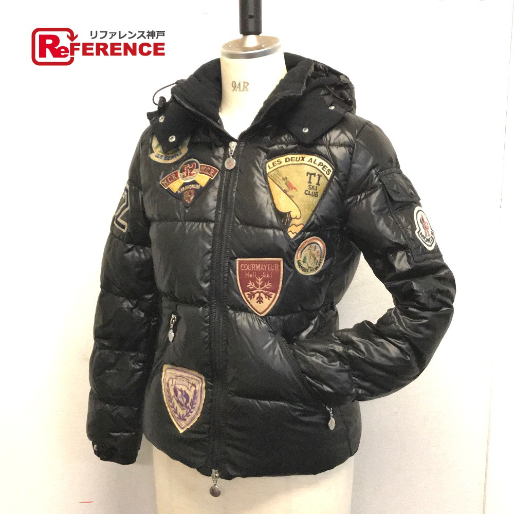 c343c65ab Badia special emblem stitch down jacket nylon / black system Lady's with  MONCLER Monk rail long sleeves outer food