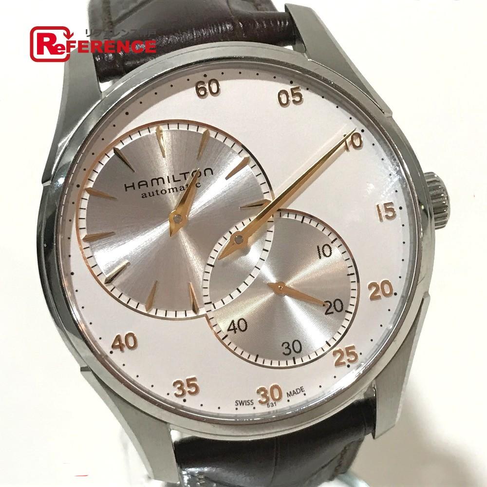 HAMILTON ハミルトン H426150 メンズ腕時計 ジャズマスター レギュレーター オート 腕時計 SS/革ベルト シルバー メンズ【中古】