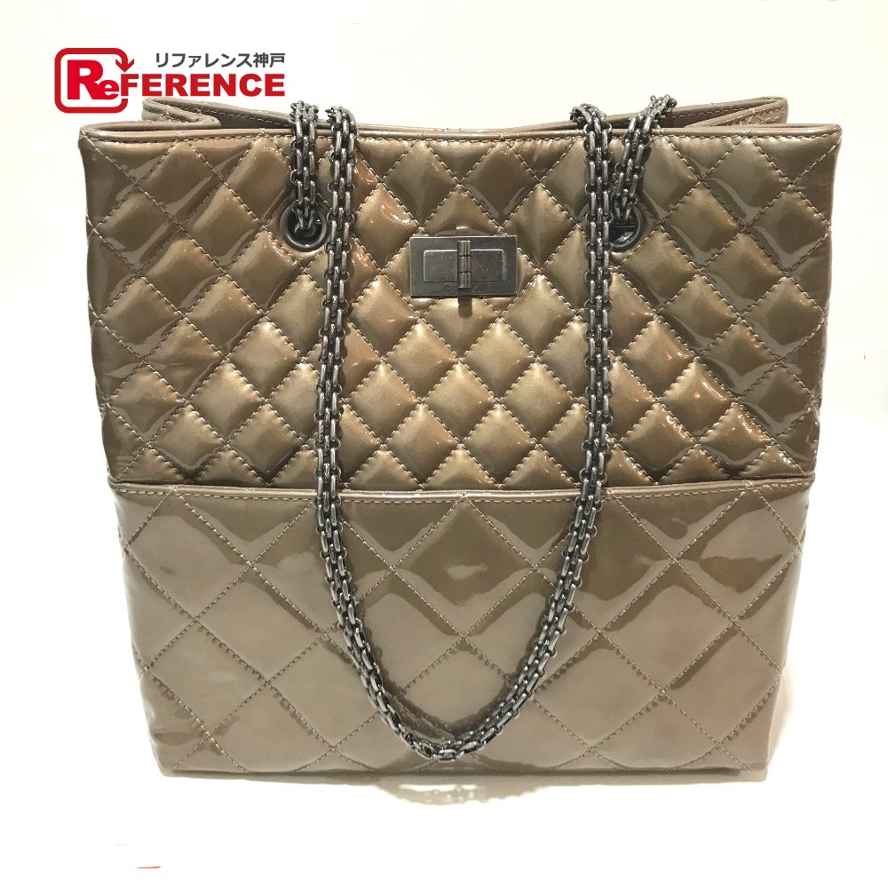 37e68bc7a4f71b CHANEL Chanel chain shoulder Thoth matelasse vintage metal fittings shoulder  bag patent leather bronze system Lady's