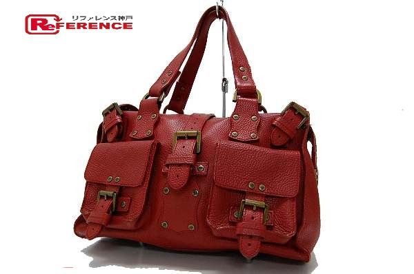 45e0dd74fd60 BRANDSHOP REFERENCE  AUTHENTIC MULBERRY Roxanne (Roxanne) Leather Mini  Boston Hand Bag Red Leather