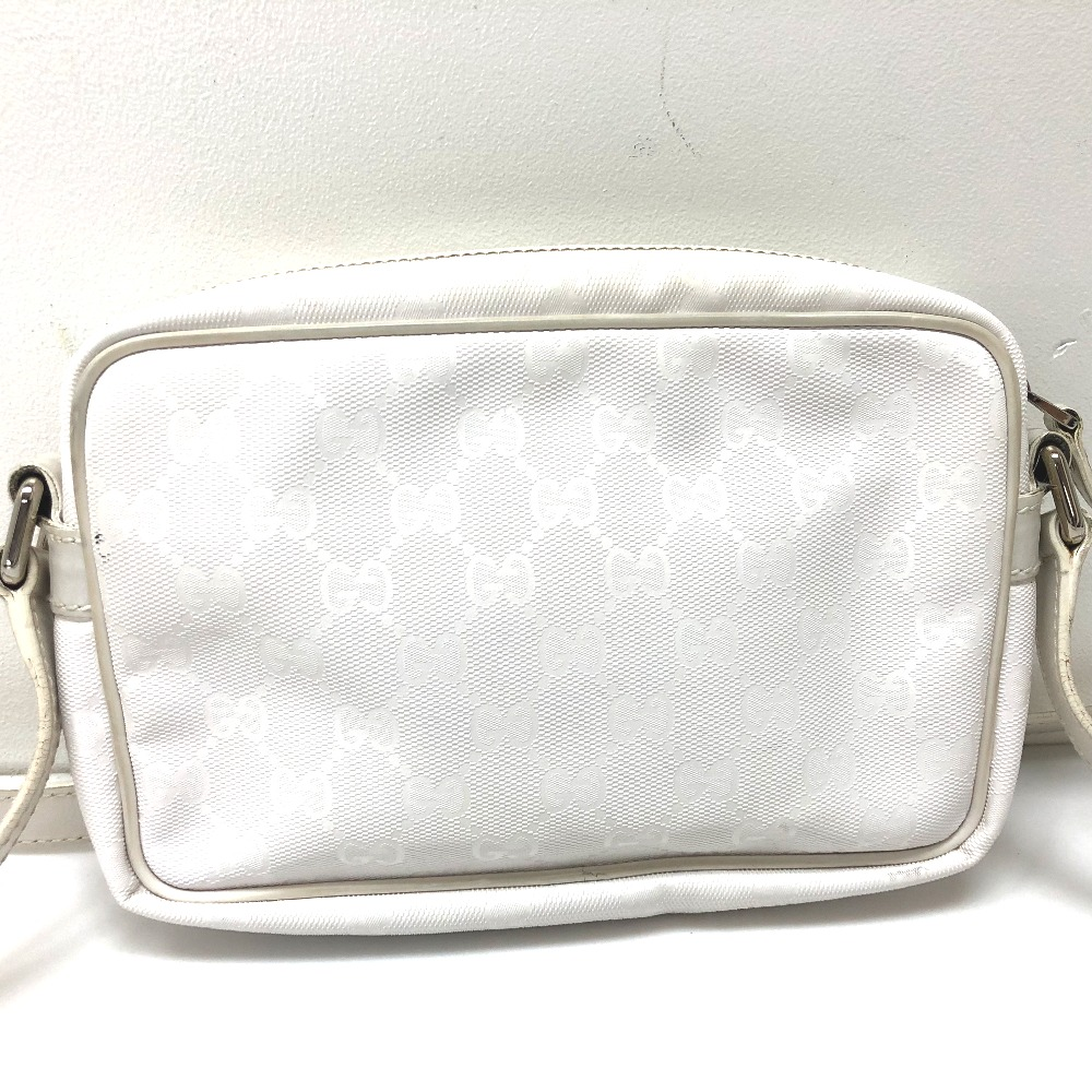 c7bb81157360 AUTHENTIC GUCCI GG Implementation Crossbody Shoulder Bag Shoulder Bag White  Implementation 201447