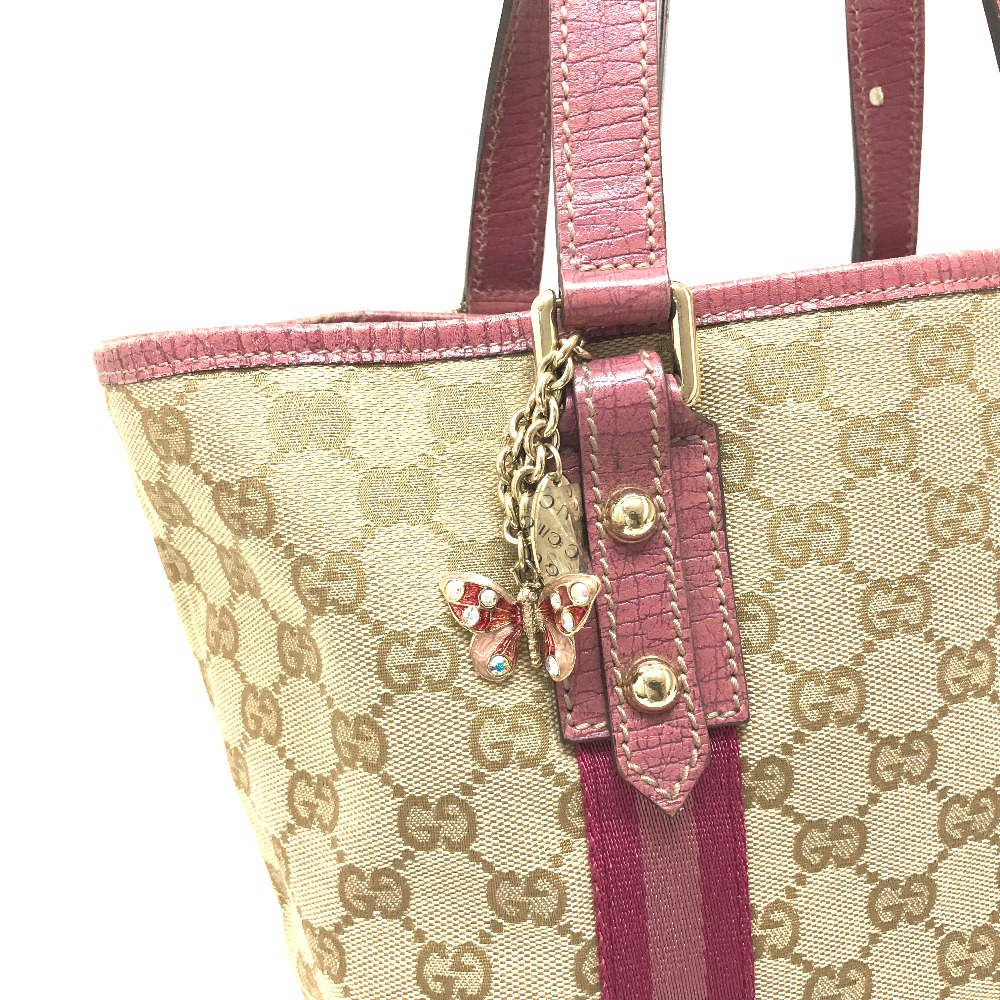 b1791d826 ... AUTHENTIC GUCCI JOLICOEUR (Joli cool) Mini with charm Tote Bag Tote Bag  Light Beige ...
