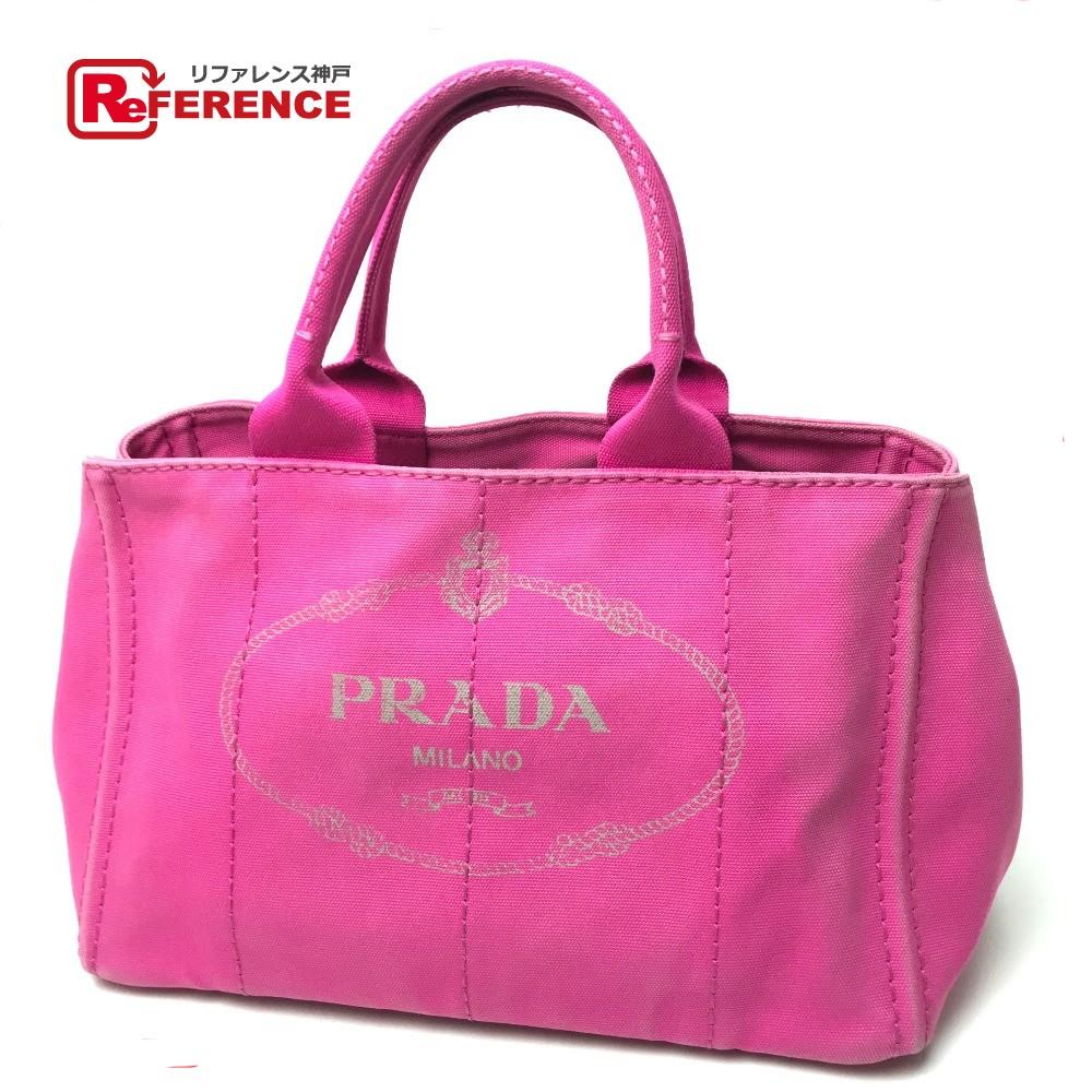 e82581afad0c AUTHENTIC PRADA CANAPA (Canapa) Shoulder Bag Tote Bag pink Cotton Canvas  BN1877 ...