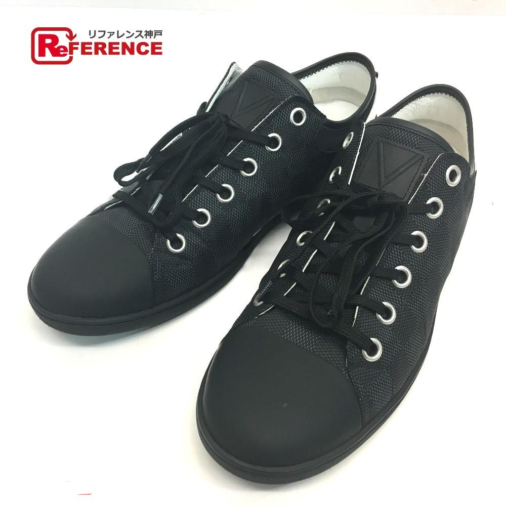 265f3d0e7501 AUTHENTIC LOUIS VUITTON Damier-Graphite Low cut Men s sneakers sneakers  Damier-Graphite Canvas
