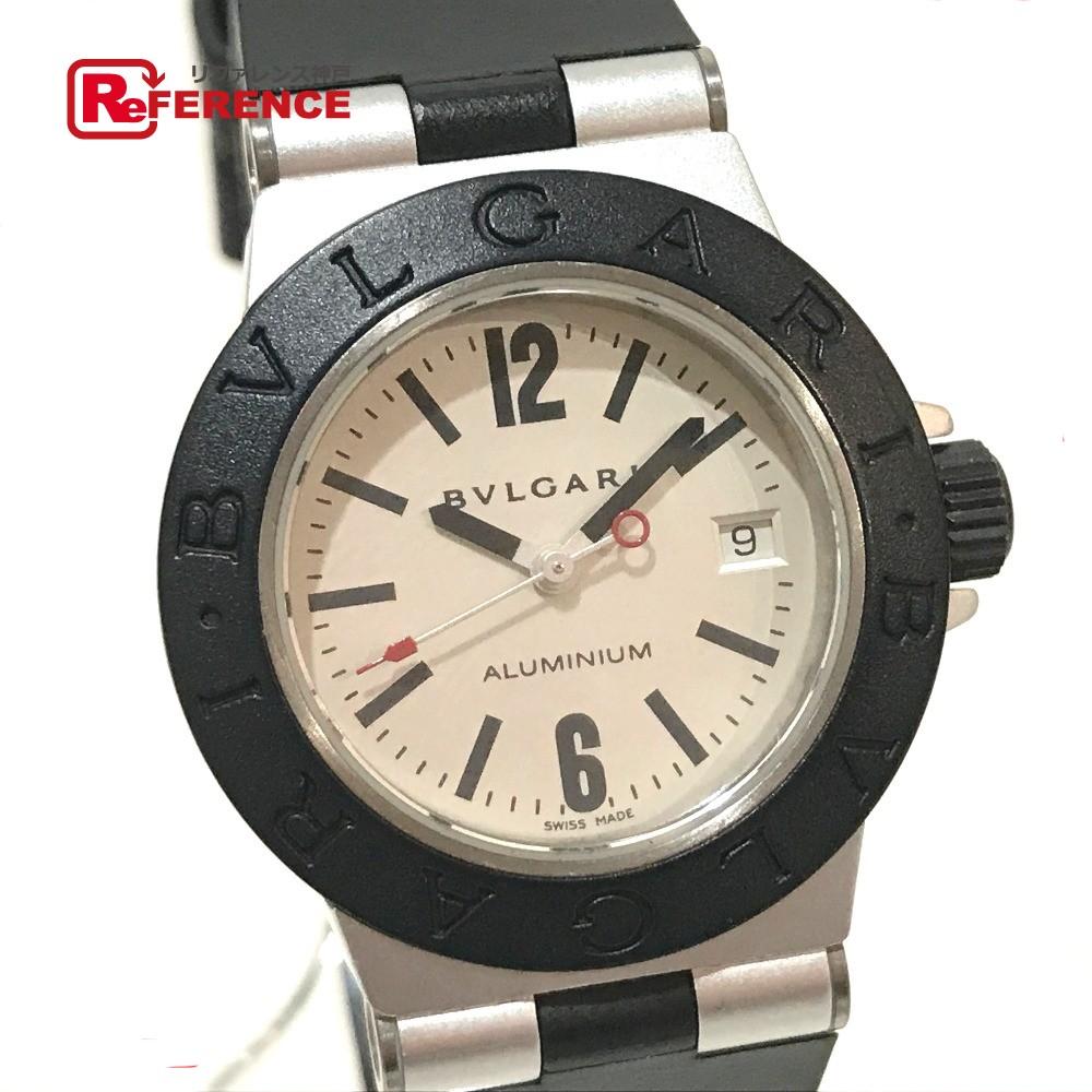 BVLGARI ブルガリ AL29TA レディース腕時計 アルミニウム デイト 腕時計 アルミニウム/ラバーベルト シルバー レディース【中古】