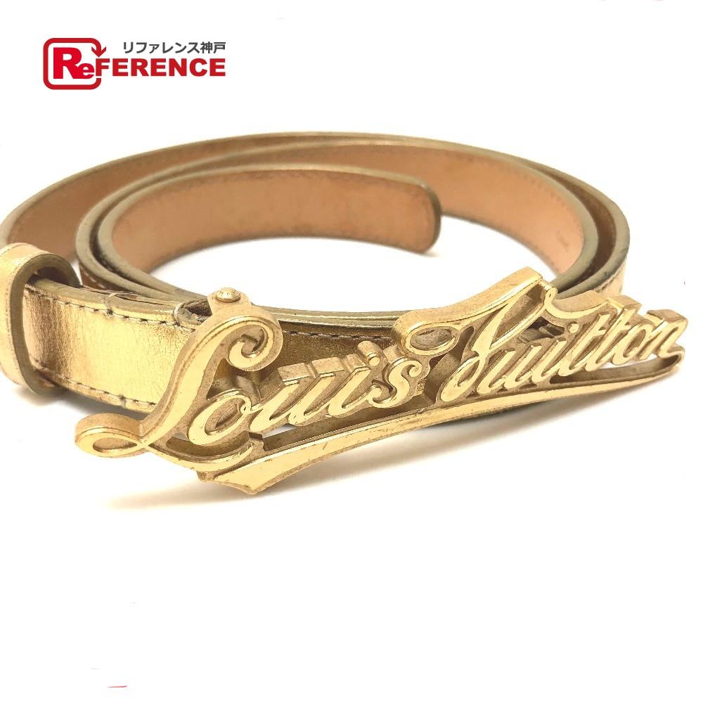 fe44b319476c AUTHENTIC LOUIS VUITTON Ceinture-LOUIS VUITTON Fashion Accessories belt  Gold Leather M6965W