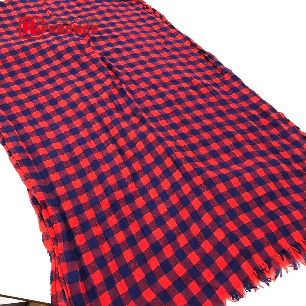 LOUIS VUITTON ルイ・ヴィトン MP0894 ファッション小物 エトール・マサイ ストール コットン レッド ユニセックス【中古】