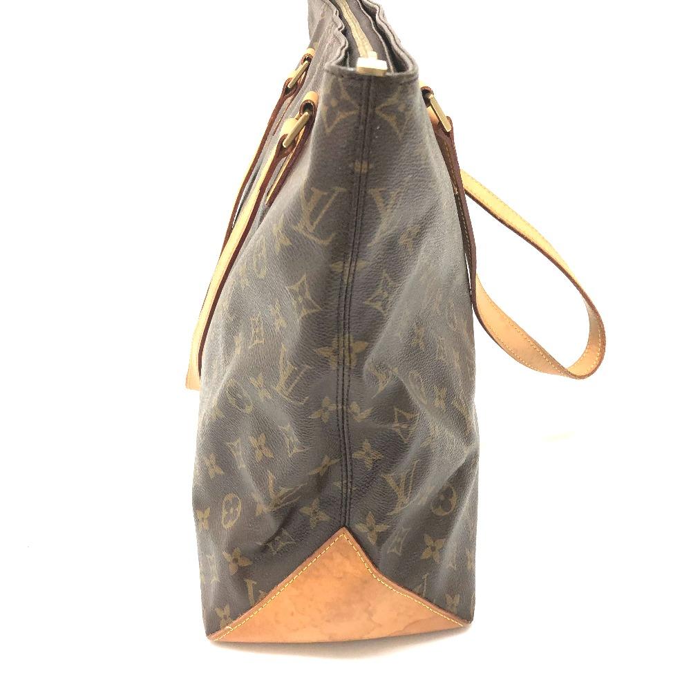 d39e705e47a3 AUTHENTIC LOUIS VUITTON Monogram Cabas Mezzo Shoulder Shoulder Bag Tote Bag  Brown MonogramCanvas M51151