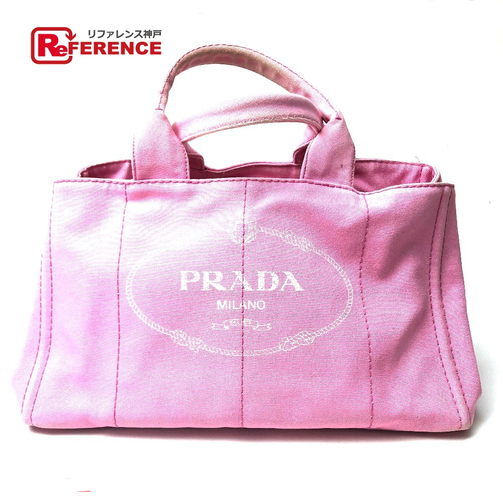 93ab0d025be2 AUTHENTIC PRADA CANAPA (Canapa) Hand Bag Shoulder Bag Tote Bag pink Cotton  Canvas B1872B ...