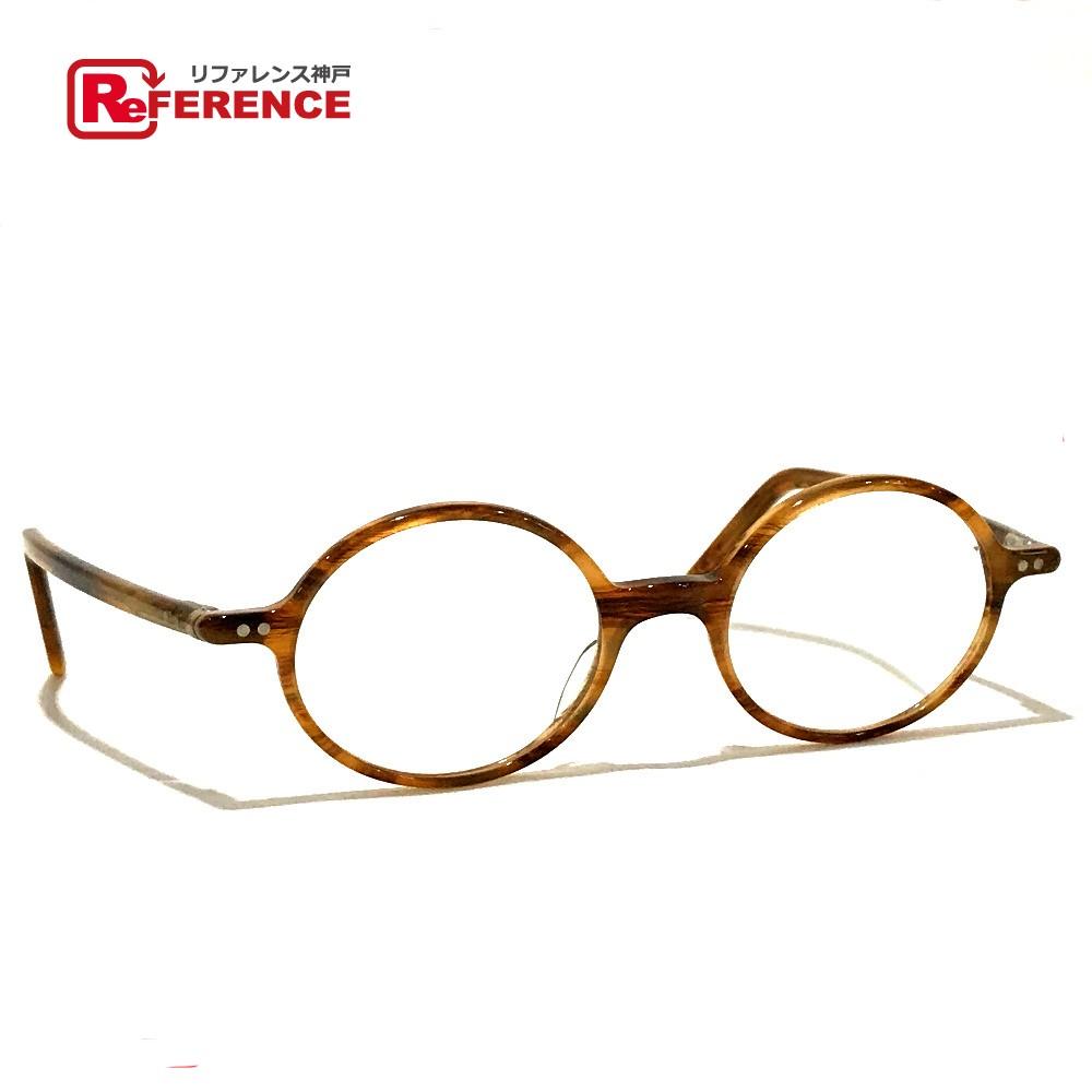 Lunor ルノア A5 Mod.230 レディース 小物 ラウンド 度あり 眼鏡 プラスチック ブラウン系 レディース【中古】