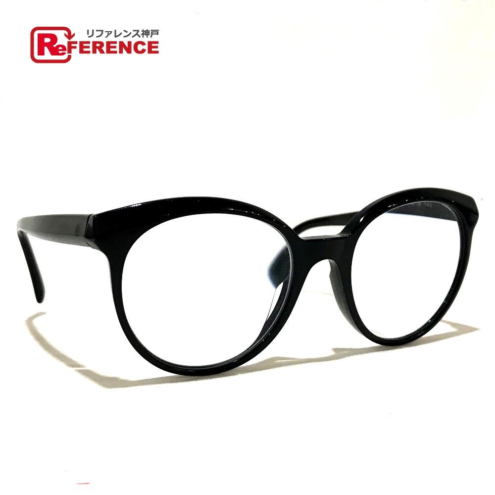 CHANEL シャネル 遠近両用度あり バタフライ シェイプ レディース 小物 眼鏡 プラスチック ブラック レディース【中古】