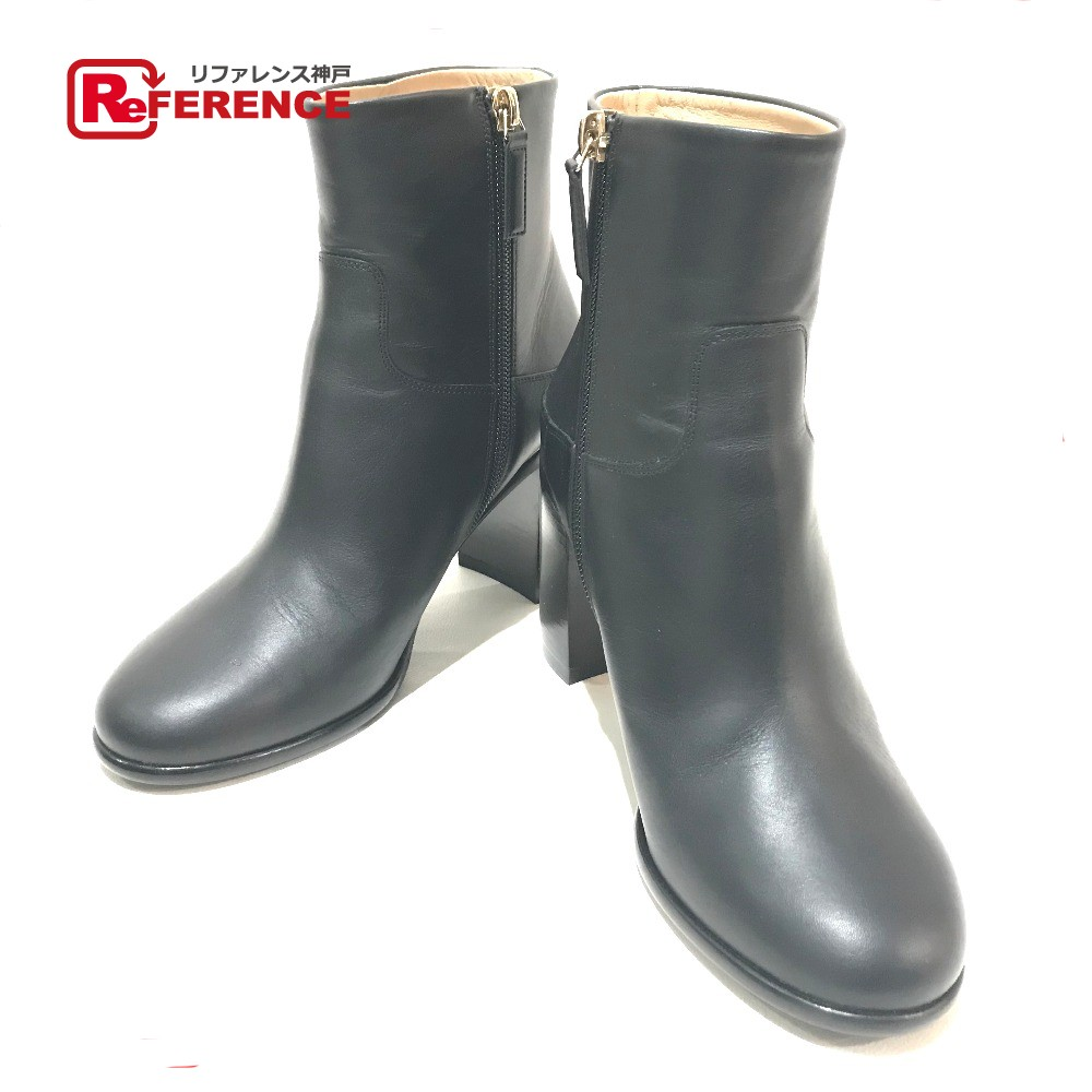 CHANEL シャネル 16A ジップアップ ショートブーツ 靴 ブーツ ブラック レディース 新品同様【中古】
