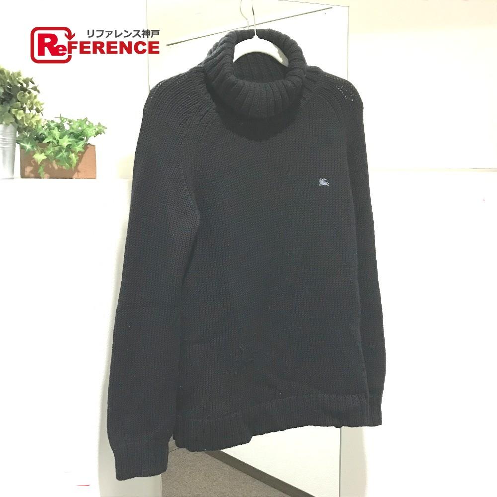 BURBERRY バーバリー ブラックレーベル ハイネック セーター トップス セーター ブラック メンズ【中古】