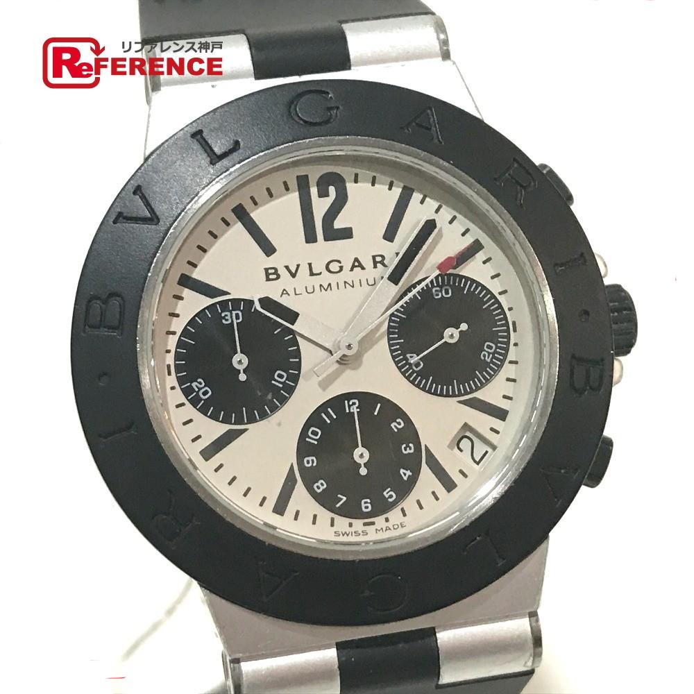 BVLGARI ブルガリ AC38TA メンズ腕時計 アルミニウム 腕時計 アルミニウム×ラバーベルト シルバー メンズ【中古】