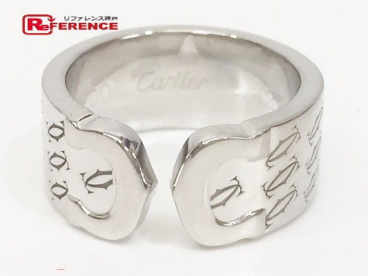CARTIER カルティエ  2Cリング 2000年クリスマス限定 リング・指輪 K18ホワイトゴールド 9号 レディース【中古】