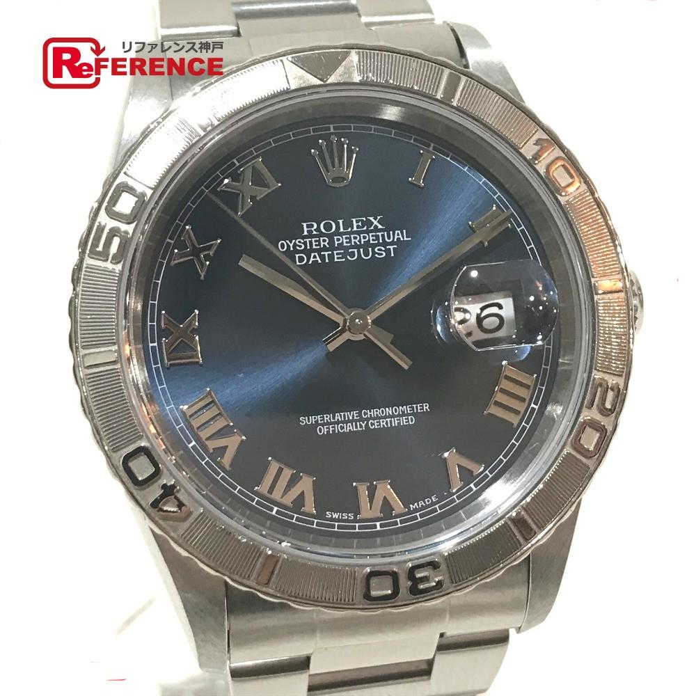 ROLEX ロレックス 16264 メンズ腕時計 デイトジャスト サンダーバード 腕時計 K18WG/SS/ シルバー メンズ【中古】
