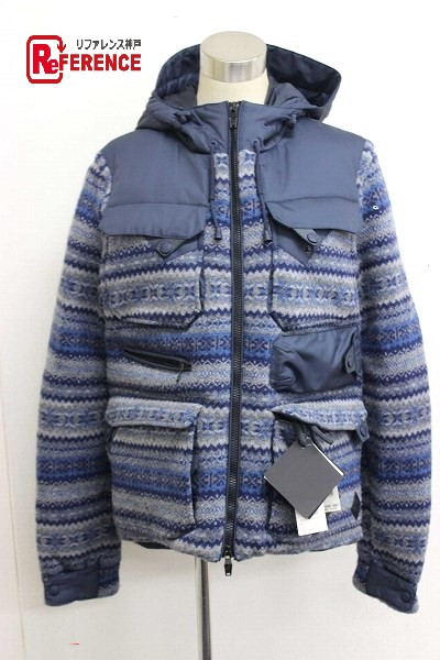a096c9864 AUTHENTIC MONCLER down coat TENZAM (Ten thumb) HoodedMen's Jacket Down  jacket Navy wool/polyester
