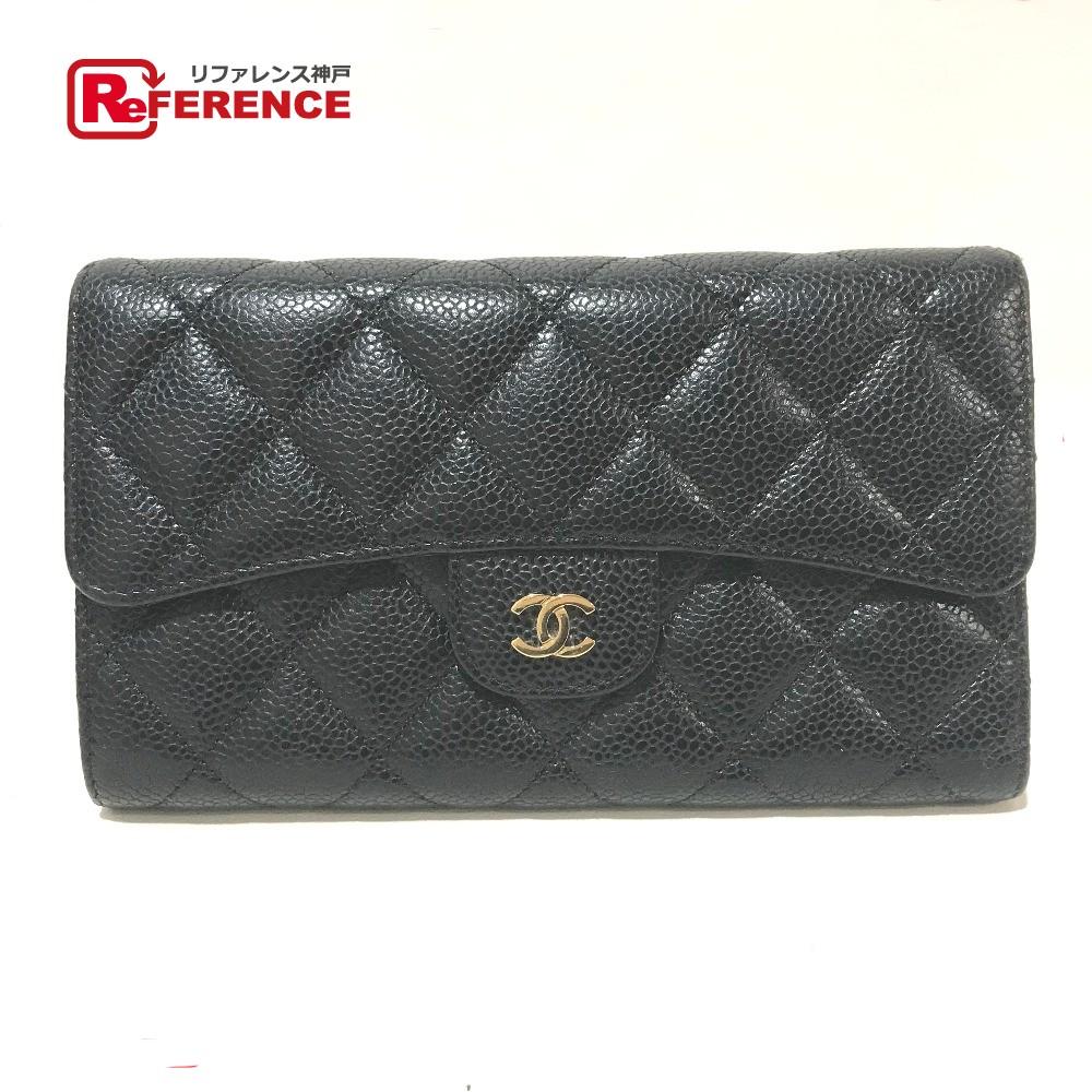 9a91aa7bec3c CHANEL シャネル A31506 長財布 マトラッセ CC ココマーク 三つ折り財布(小銭入れあり