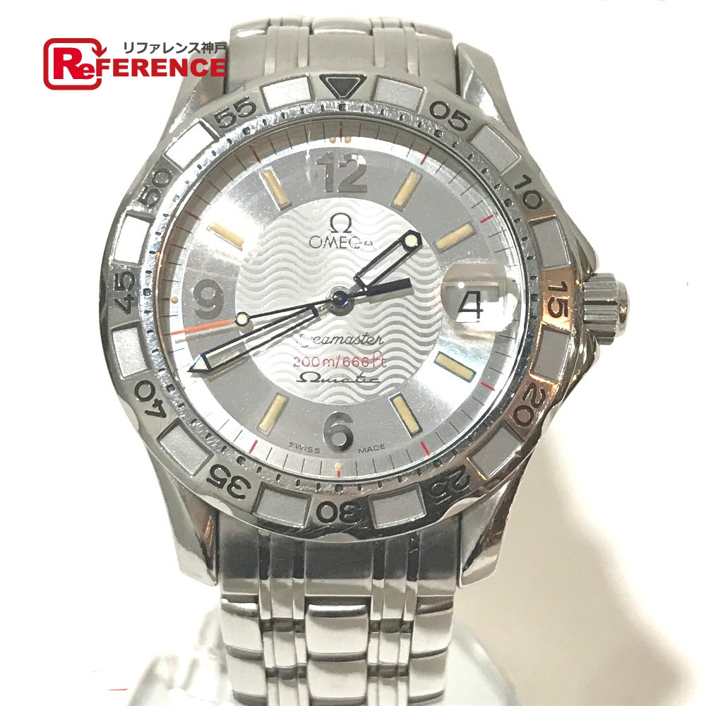OMEGA オメガ 2514.30 シーマスター オメガマティック オートクォーツ 腕時計 SS シルバー メンズ【中古】