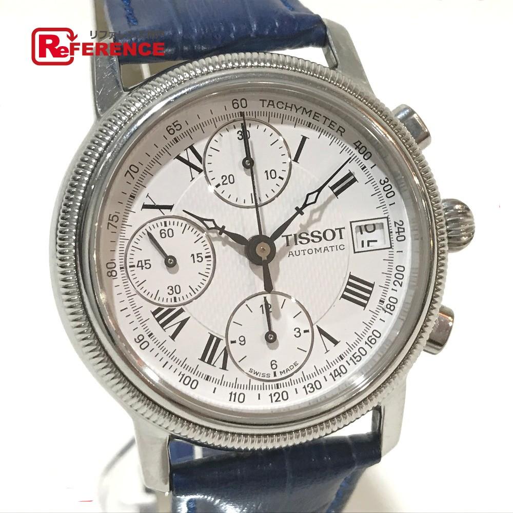 TISSOT ティソ V560 メンズ腕時計 バルジュー7750 ブリッジポート デイト 腕時計 SS×革ベルト シルバー メンズ【中古】