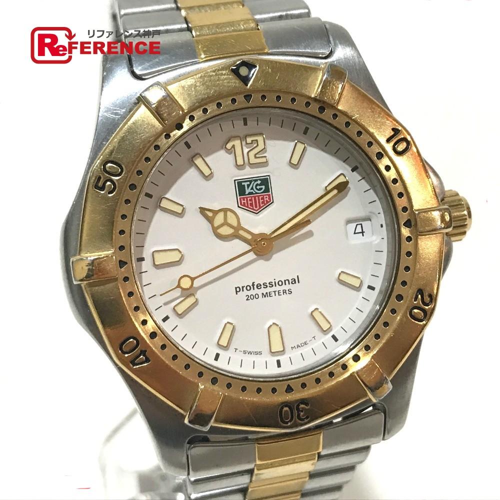 TAG HEUER タグホイヤー WK1120 メンズ 腕時計 2000シリーズ クラシック プロフェッショナル 腕時計 SS/GP シルバー メンズ【中古】