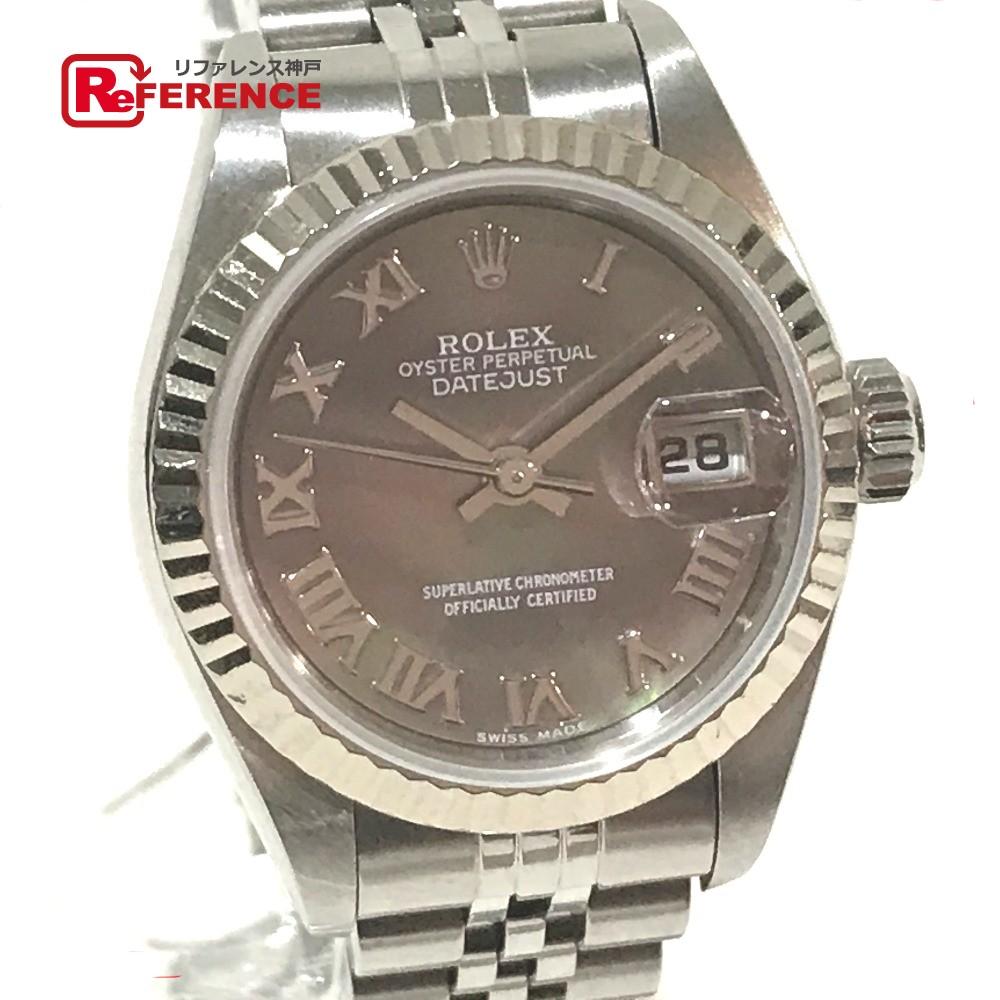 ROLEX ロレックス 79174 レディース腕時計 デイトジャスト オイスターパーペチュアル 腕時計 SS/WG シルバー レディース【中古】