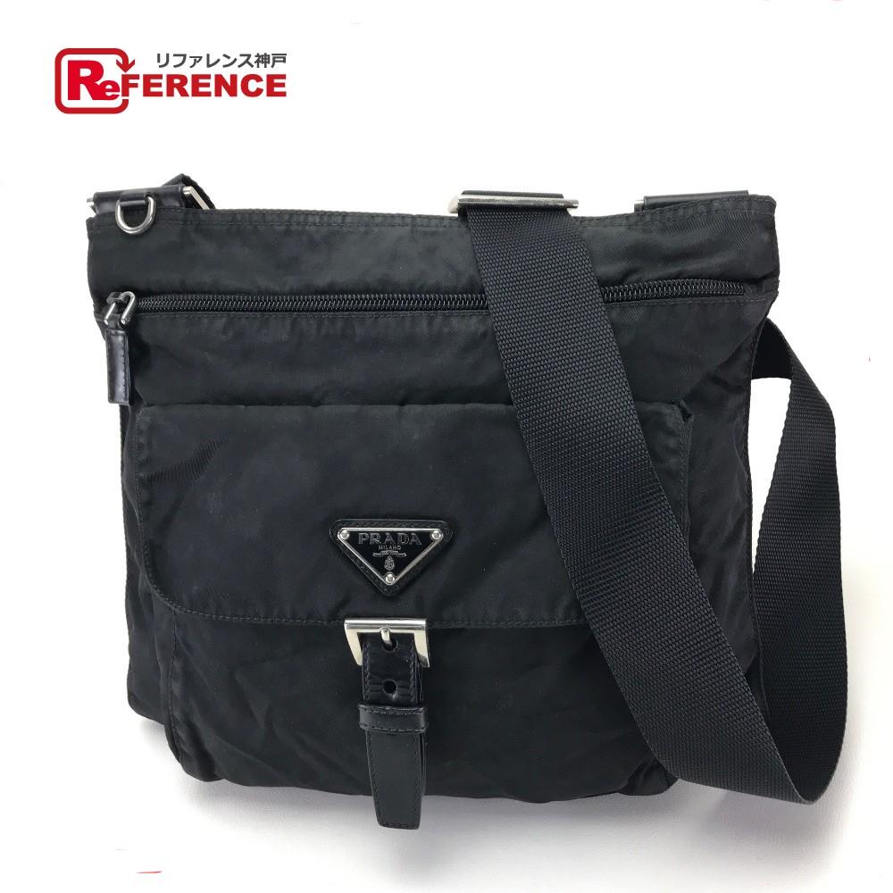 9e5918de72c5 PRADA Prada pochette logo plate men gap Dis shoulder bag nylon / black  Lady's