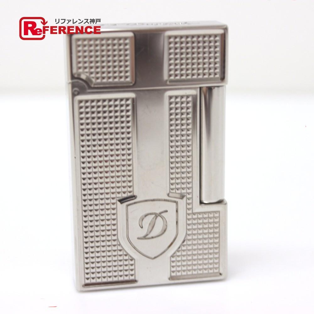 S.T.Dupont エス・テー・デュポン レディース メンズ ガスライター パラジウム シールド ダイヤモンドヘッド ライン2 ライター 真鍮/ シルバー レディース【中古】