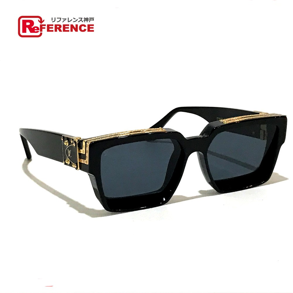 221543d368a88 AUTHENTIC LOUIS VUITTON 1.1 Millionaire Virgil - Above Design Men's Women's  sunglasses Black x Gold Plastic Z116SE