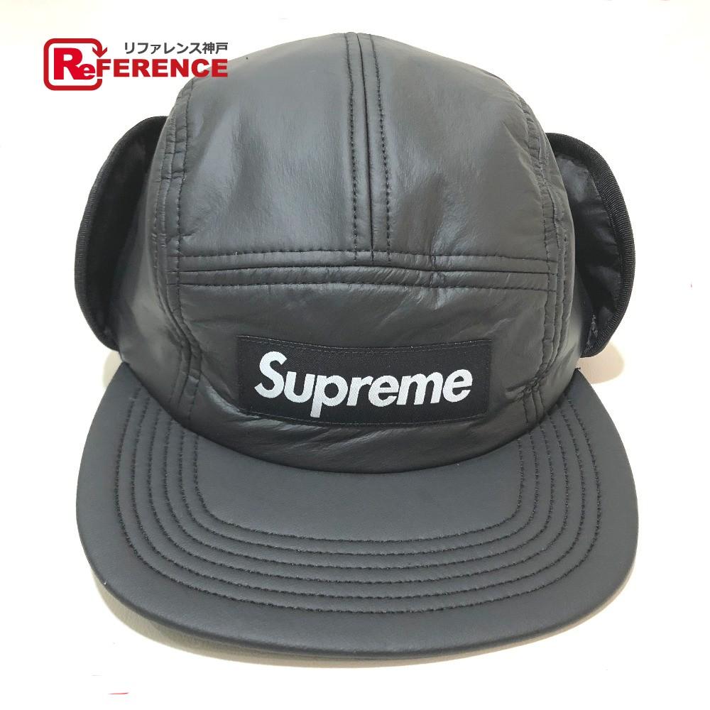 Supreme シュプリーム 18AW PrimaLoft Earflap CampCap プリマロフトイヤー フラップ キャンプキャップ 帽子 ブラック メンズ 未使用【中古】