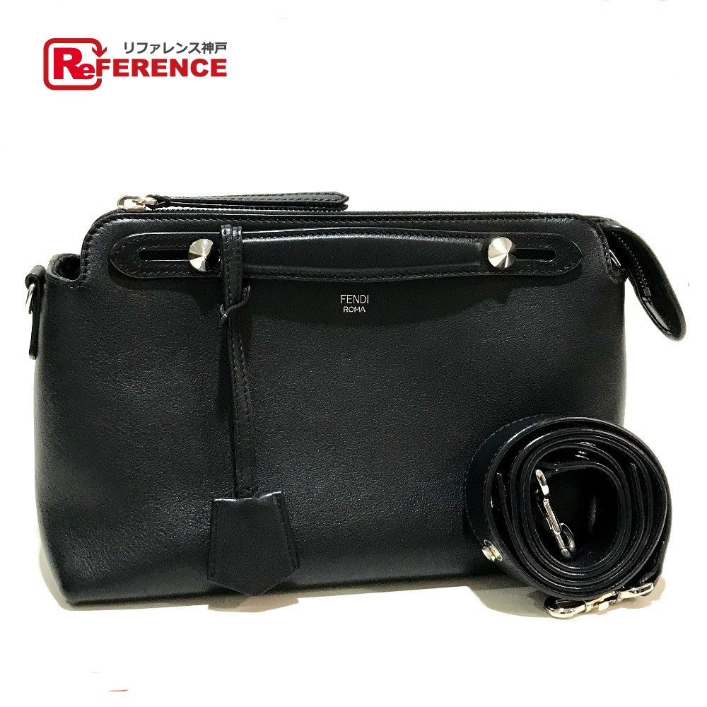 8449729366ed BRANDSHOP REFERENCE  AUTHENTIC FENDI 2 WAY By the way medium medium  Shoulder Bag Hand Bag Black Leather 8BL124