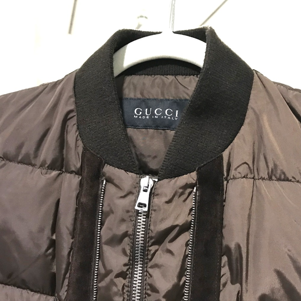 f0f961f7d ... AUTHENTIC GUCCI With tag Best outerwear Nylon jacket Dark Brown  Nylon/suede ...