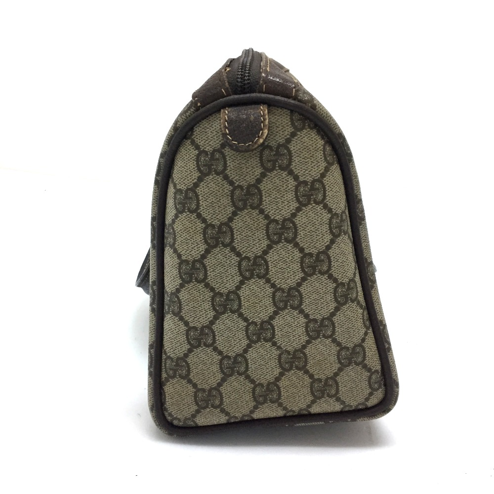 26d320ae5bc AUTHENTIC GUCCI Old Gucci Sherry Line GG Plus Tote Bag Hand Bag Beige Brown  PVC x Leather 40.02.006