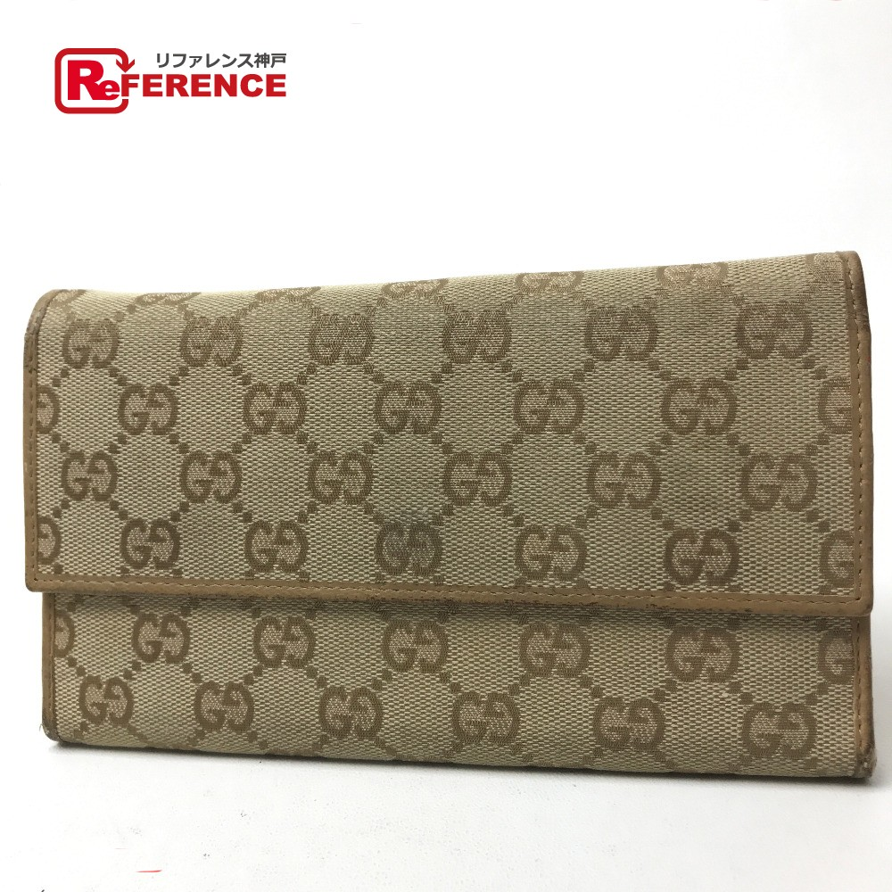639944b58b6 AUTHENTIC GUCCI Men s Women s Tri-fold Long Wallet Long Wallet (with Coin  Compartment) Beige GGCanvasxLeather  257303