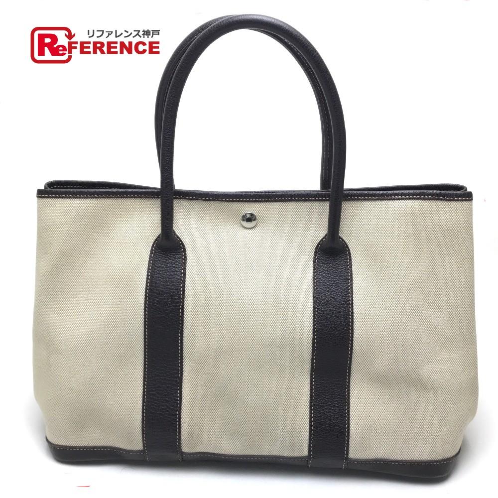 BRANDSHOP REFERENCE  AUTHENTIC HERMES Garden Party PM Shoulder Shoulder Bag  Tote Bag BeigeBased Dark Brown Toile H  660f3216dae39