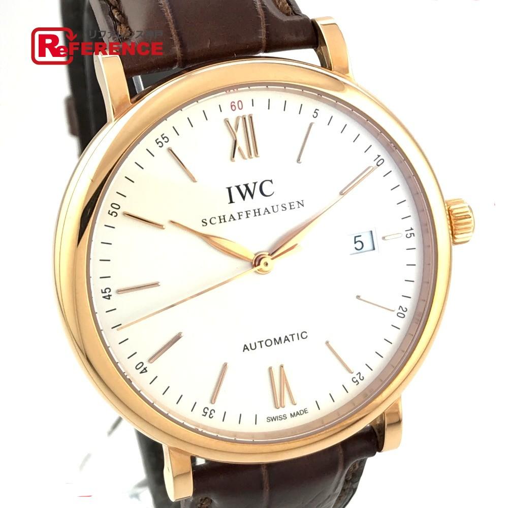 IWC インターナショナルウォッチカンパニー 356504 メンズウォッチ 時計 ポートフィノ オートマチック 腕時計 K18PG/革ベルト ピンクゴールド メンズ 未使用【中古】