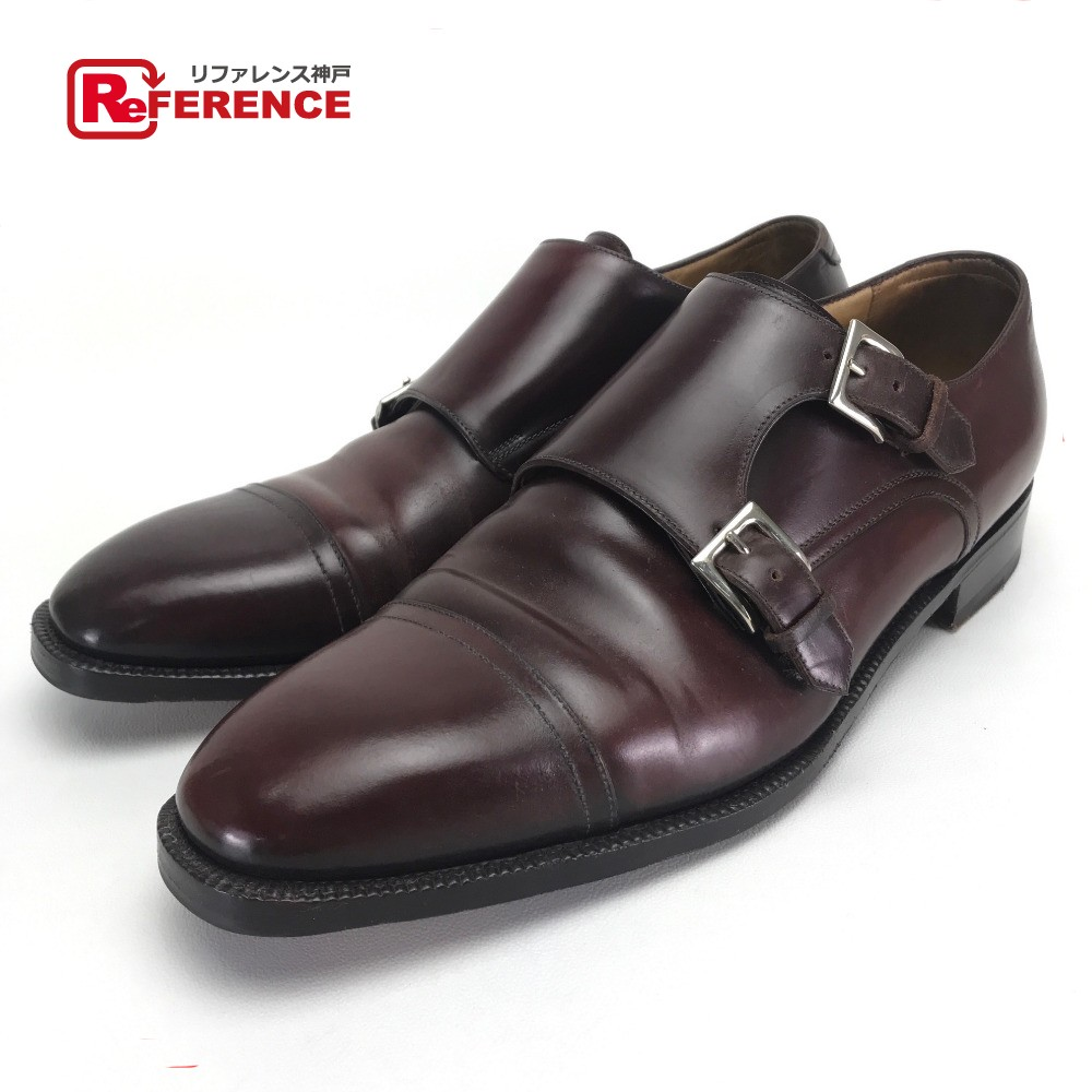 Enzo Bonafe エンツォボナフェ ビジネスシューズ 靴 紳士 ダブルモンクストラップシューズ レザーシューズ //コードバン ブラウン メンズ【中古】