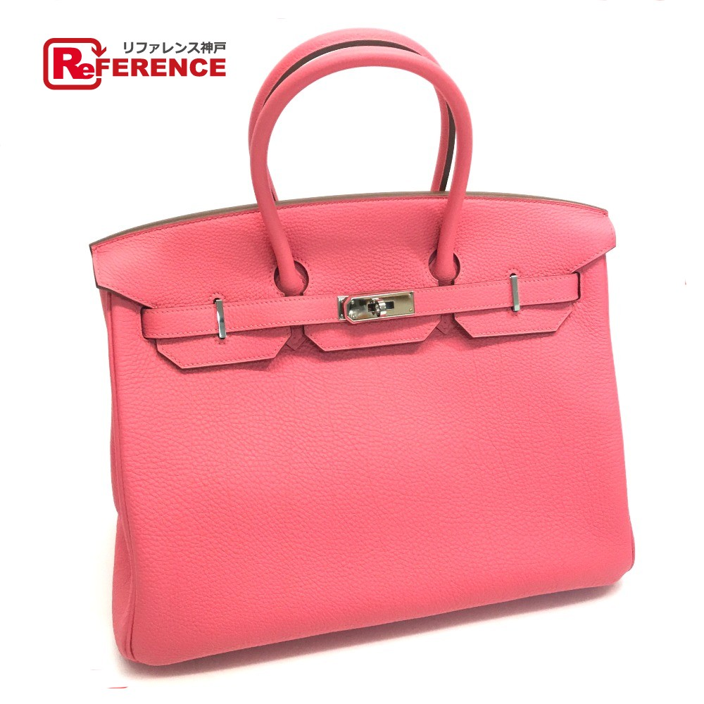 c1d8462524 AUTHENTIC HERMES birkin 35 Birkin 35 Hand Bag Hand Bag Rose lipstick SilverHardware  Togo