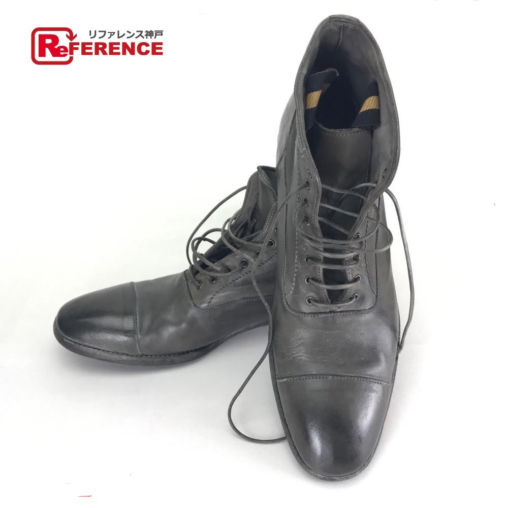 Alexander McQueen アレキサンダーマックイーン ショートブーツ 靴 ブーツ レザー/ グレー系 メンズ【中古】